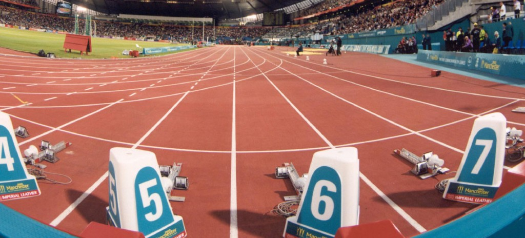 Manchester Commonwealth Games athletics track