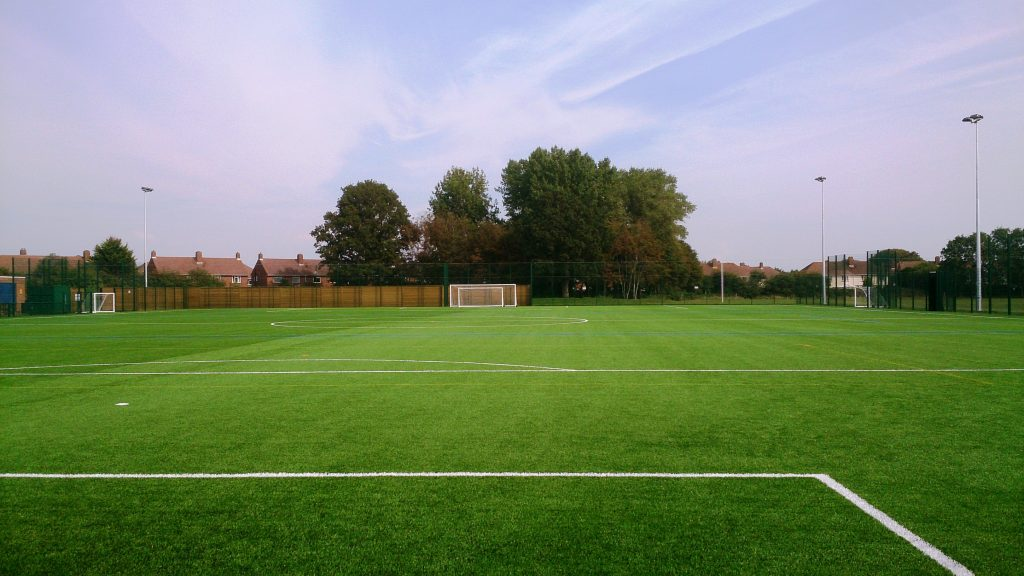 New 3g Artificial Pitch Installation At Bridgemary School
