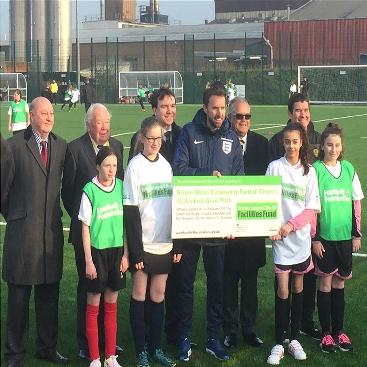 Gareth Southgate Opens New Pitch at Burton Albion