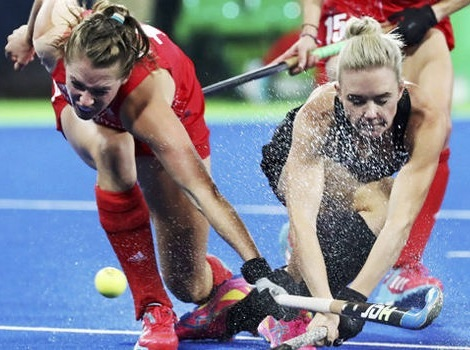 water-based olympic hockey pitches