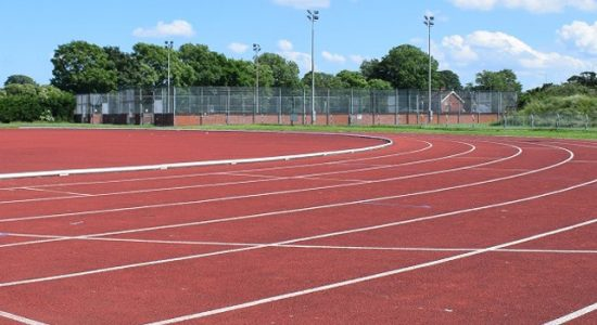 King george V11 eight lane athletics track