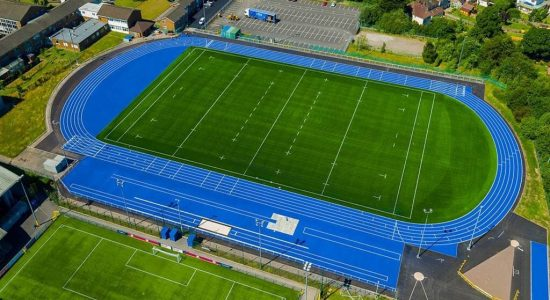 Cardiff Metropolitan University - Eight lane athletics track with 3G rugby in-field