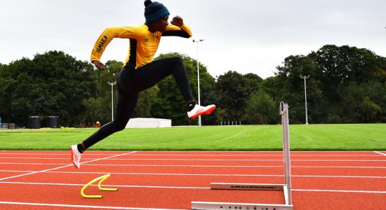 Danielle Williams on the brand new track at the University of Birmingham - credit Alan Spink