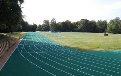 Stowe School - Eight lane athletics track