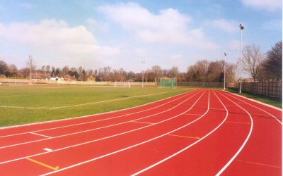 Tidworth Oval eight lane athletics track