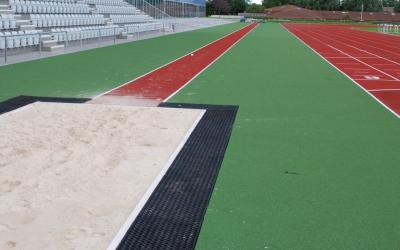 Aberdeen Sports Village - Long jump and eight lane track